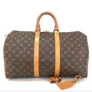 Louis Vuitton Monogram Keepall 45 Luggage Bag